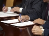 signature signing contract office business
